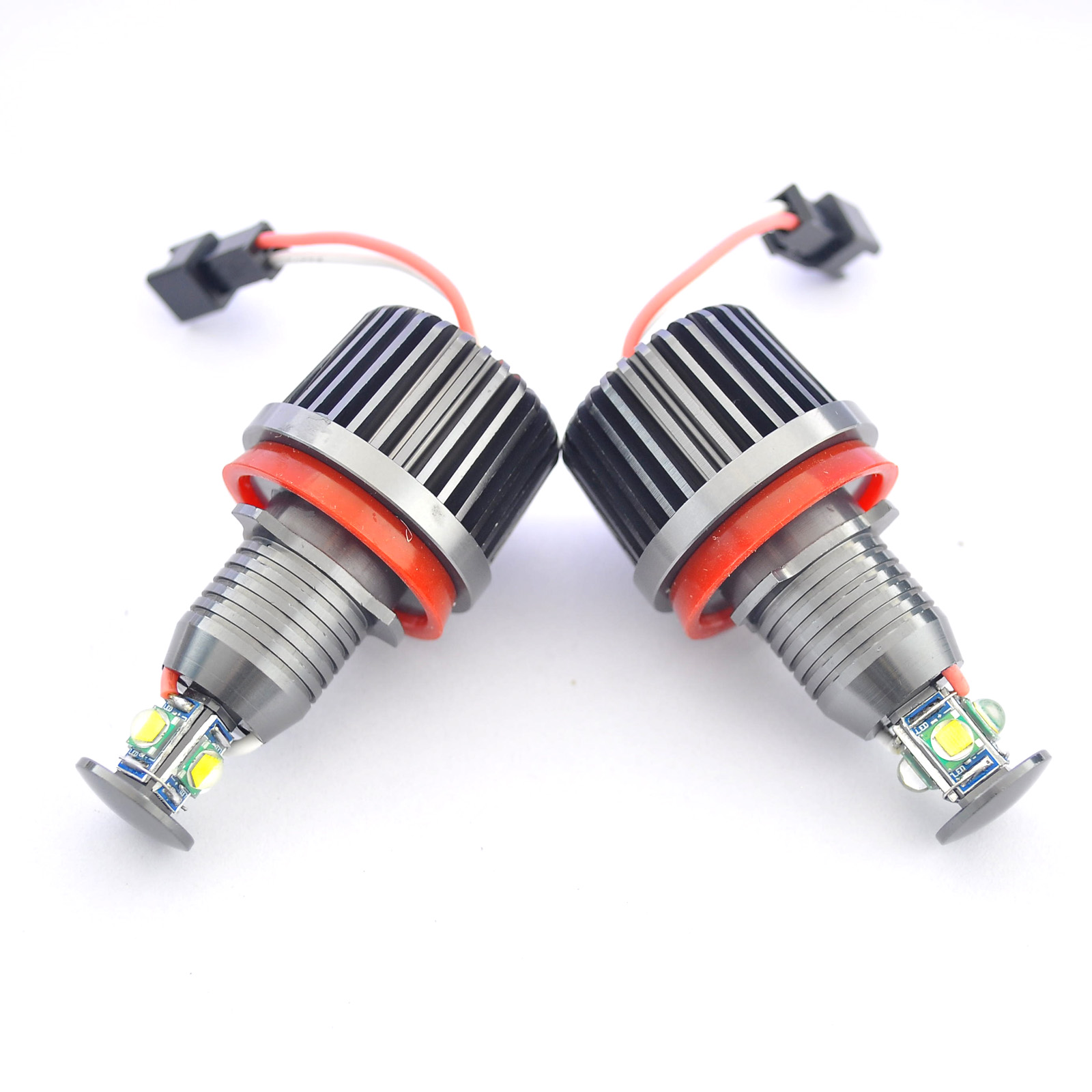 Do Promotion! 1pair Car 40W H8 Error Free High Power Angel Eye Halo Ring Car LED Light Bulb E90 E92