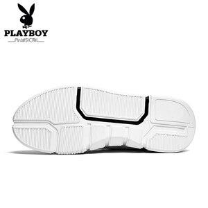 Image 4 - PLAYBOY Nieuwe Comfortabele Casual Schoenen Mannen PU Lederen Schoenen Hoge Kwaliteit Comfort Schoeisel Mode Platte Schoen Lace Up Boot schoenen