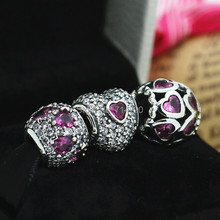 925 Sterling Silver Charm & Murano Glass Bead Sets with Charm Box Fit European Style Jewelry Bracelets and Necklaces-B126