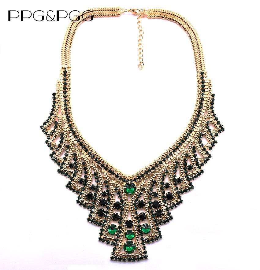 PPG & PGG Accessori Moda Gioielli Splendida Collana Dichiarazione di Cristallo Vintage Maxi Girocolli Bib Collare