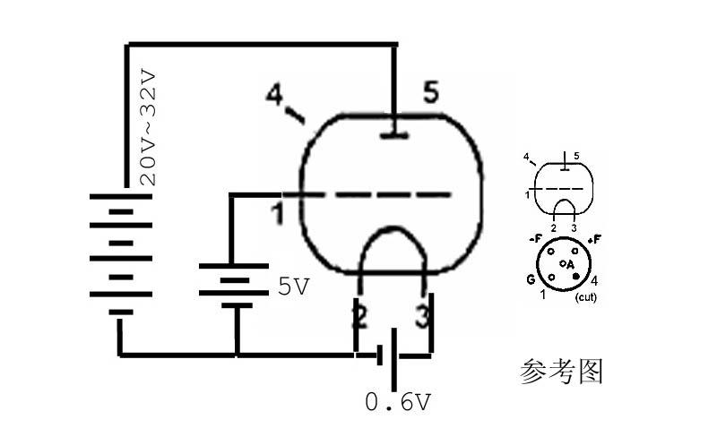 IV-15 VFD вакуумный флуоресцентный монополь Электронный индикатор трубки бывшего Советского Союза