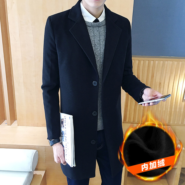 2016 New Spring Autumn British turn down collar Man Casual Jacket Fashion pocket Slim solid men Trench Coat Plus Size 4XL 5XL