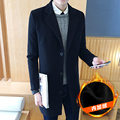 2016 Nueva Primavera Otoño Británico gira el collar abajo Hombre Chaqueta Informal bolsillo de la manera Delgada sólida hombres Trench Coat Plus Tamaño 4XL 5XL
