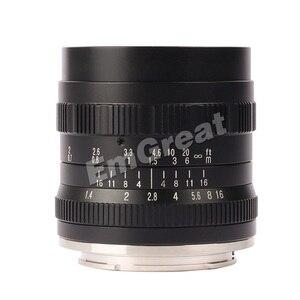 Image 2 - Brightin כוכב 50mm F1.4 ראש עדשת גדול צמצם ידני עדשה עבור Sony e mount עבור Fuji X  הר M4/3 הר ראי מצלמות