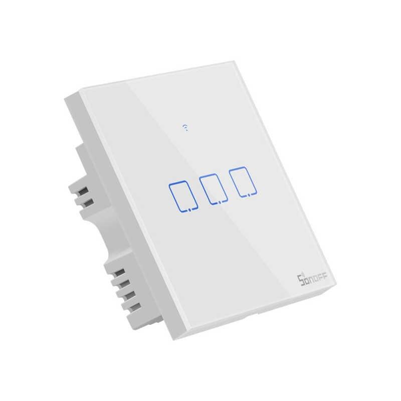 Sonoff T1 1/2/3/banda TX inteligente Wifi pared táctil de interruptor de la luz de/WiF/RF/ interruptor táctil de pared de hogar inteligente de aplicación remota con Alexa Google Home
