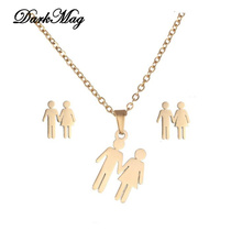DarkMag Father Mother Kids Family Necklace Bracelets Set Fat