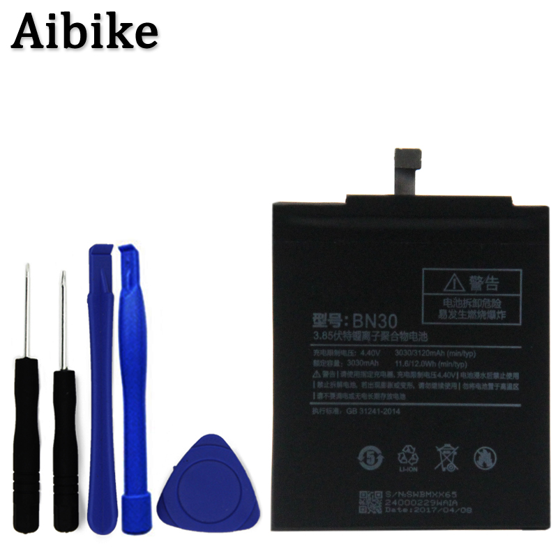 For BN30Battery Xiaomi Redmi 4A Only Mobile PhoneBattery Redmi 4AHigh Quality 3030mAh Accumulator 0 Cycle Tools
