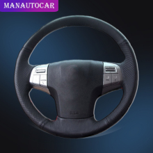 Car Braid On The Steering Wheel Cover for Isuzu Auto Leather Interior Accessories Car-styling