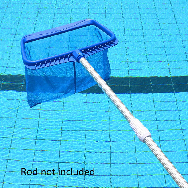 Professional Blue Rectangle Leaf Rake Mesh Net Skimmer Clean Swimming Pool Deep Bag Tool Heavy Duty