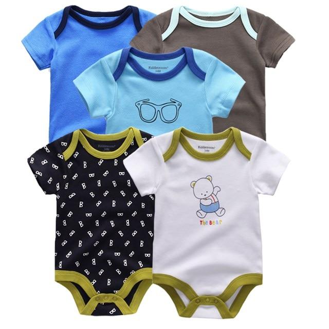 Kiddiezoom детские комбинезоны пижамы для маленьких девочек Дети Bebe Infantil одежда для новорожденных одежда из хлопка Одежда для маленьких мальчиков, Товары для детей - Цвет: baby boys 5113