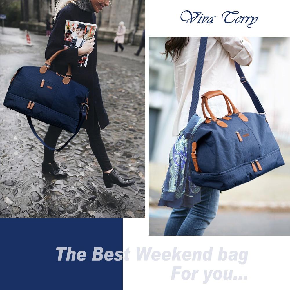 Mealivos Canvas Waterproof Travel Tote Duffel shoulder handbag Weekend Bag with Shoe Compartment