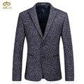 Miuk 2017 gris negro de la marca de ropa de los hombres de la chaqueta m ~ xxxl blazer masculino slim fit para hombre de terciopelo de alta calidad blazers terno masculino
