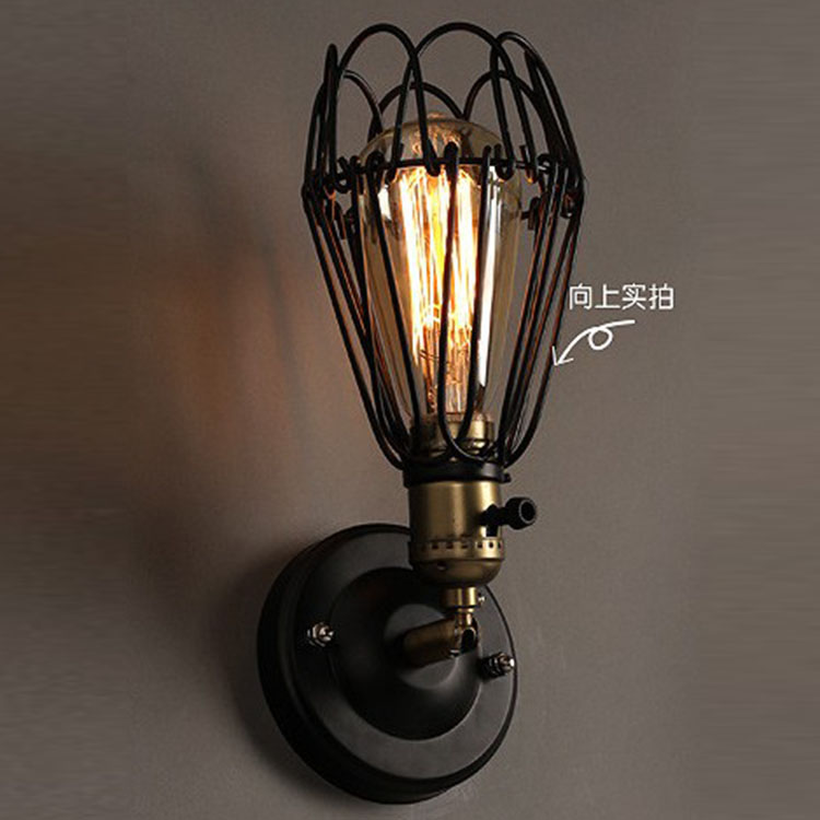 Wall Lamp Bar : ?Loft Vintage Metal ??? Coffee Coffee Bar Wall Lights Black ? Metal Metal Bulb Tube Balcony ...