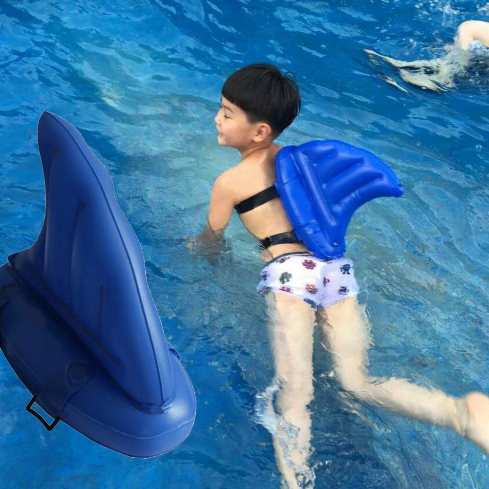 2016 Kids Swimming Pool Aid Inflatable Pvc Print Shark Fin Style Swim Beginner Float Buoy