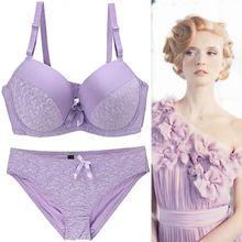 2019 Romantic Temptation Bra Set Women Fashion Sexy Lace  Underwear Push Up and Panties Female