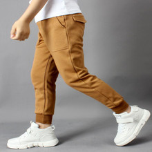 AJLONGER Kids Pants Boys Casual Clothing Cotton Long Trousers Children Sport Spring