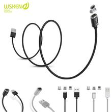 WSKEN Mini 2 Magnetic Data Cable Micro USB Type C Fast Charging Charger For iphone X 8 7 6S 6 Plus 5 5S Huawei Xiaomi Samsung S9