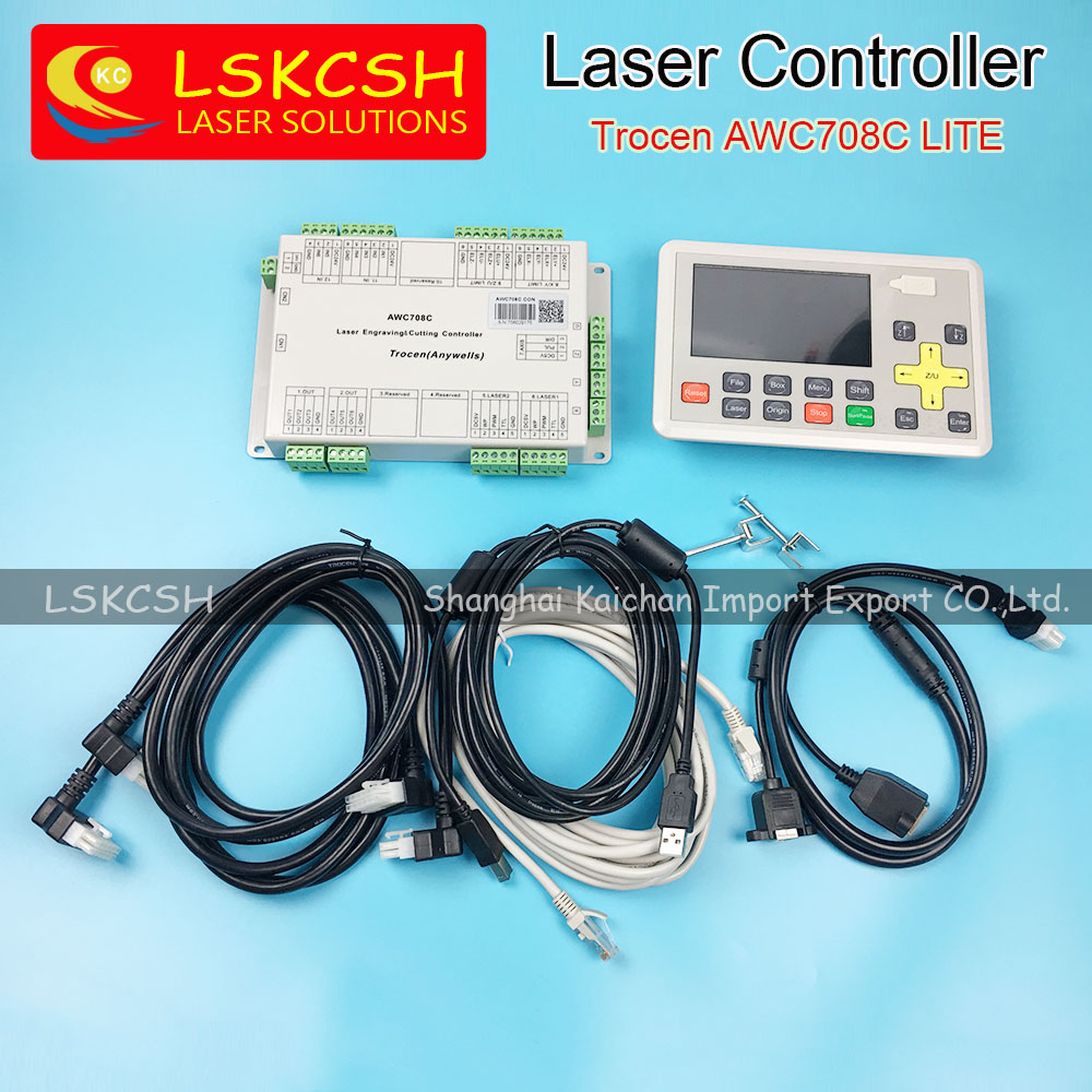 2017 new AWC708C lite Co2 laser controller cheapest with fast delivery spare parts factory in China