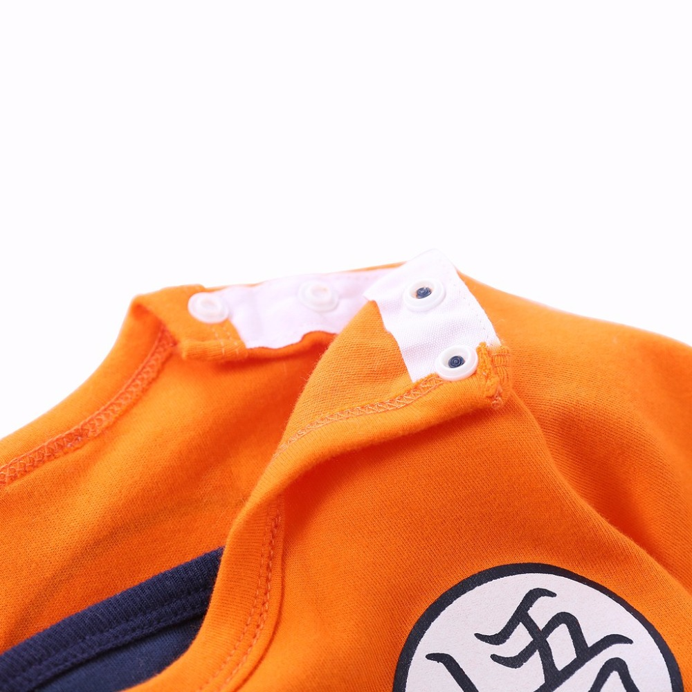 YiErYing Baby Clothing Baby rompers 100% Cotton Dragon Ball Sun Goku Long and Short Sleeve Baby Jumpsuits Baby Boy Girl Clothes