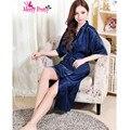 Новинки женщинам атласном платье ночное кимоно халаты искусственного шелка дамы ночную рубашку пижамы Большой размер XXXL Mp37