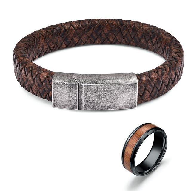 Jiayiqi Men Bracelet Ring...