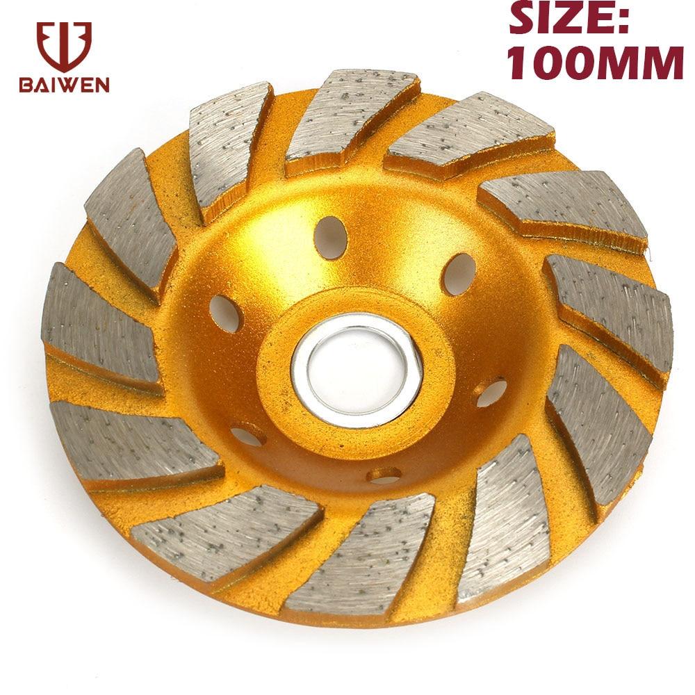 100mm Diamond Grinding Wheel  4 Disc Bowl Shape Cup Concrete Granite Stone Ceramics Tools