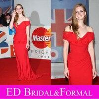 Lana Del Rey 2012 Brit Awards Sexy Red Evening Dress