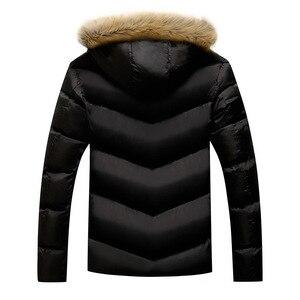 Image 2 - BOLUBAO Marke Männer Warme Parka Hohe Qualität Winter Männliche Mit Kapuze Mantel Jacken Casual Pelz Kragen Winddicht herren Parka
