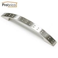 Probrico PD2593BSN128 Zinc Alloy Brushed Satin Nickel 128mm 5 Furniture Cabinet Handle Kitchen Drawer Knob
