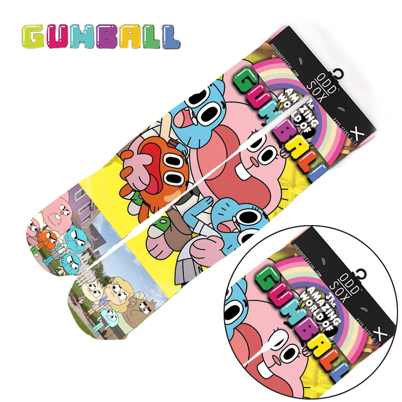 "4x16"" The Amazing World of Gumball Darwin Richard Watterson Cotton Socks Colorful Stockings Tights Cosplay Costume Cartoon Gifts"