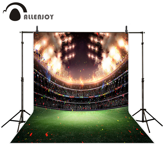 allenjoy pile sports theme photography backdrop stadium new year celebrate birthday party background photobooth for photo