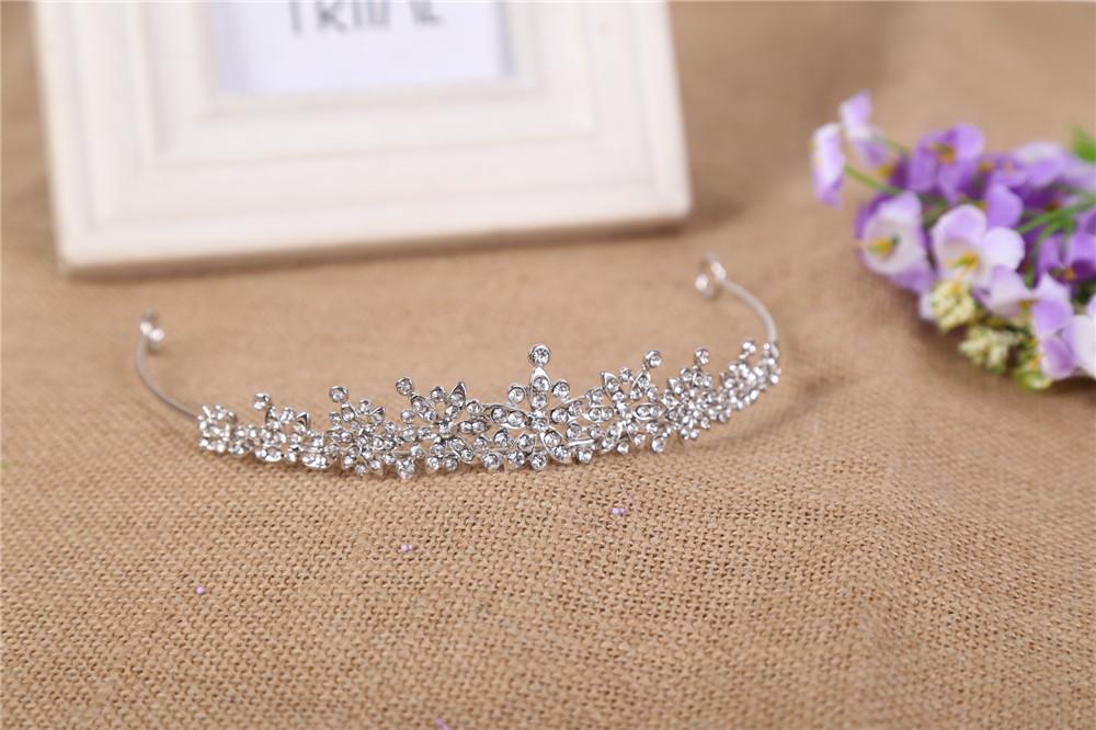 3 Designs Fashion Crystal Wedding Bridal Tiara Crown For Women Prom Diadem Hair Ornaments Wedding Bride hair Jewelry accessories 7