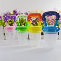 Hot Silicone Nipples Soft Feeding Tool Baby Infant Food Nipple Feeder Pacifier Fruits Feeding Supplies Soother P15re