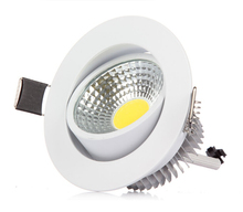 Free Shipping 7W Dimmable COB Led Ceiling Down lights Recessed Downlight Spot Lamp Indoor Lighting for Home