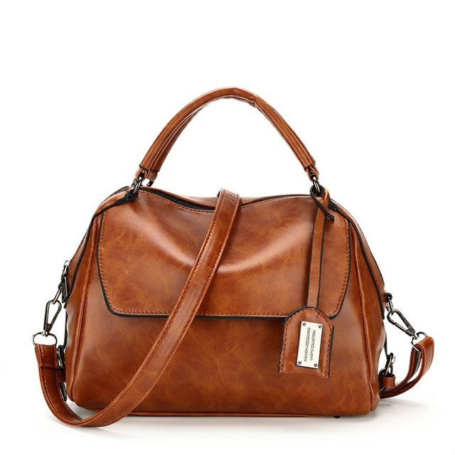 2018 High Quality Pu Leather Bag For Women Vintage Luxury Handbags Bags Designer With Long