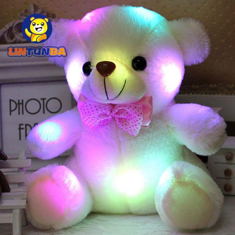 LED Colorful Glowing Luminous Plush Baby Toys