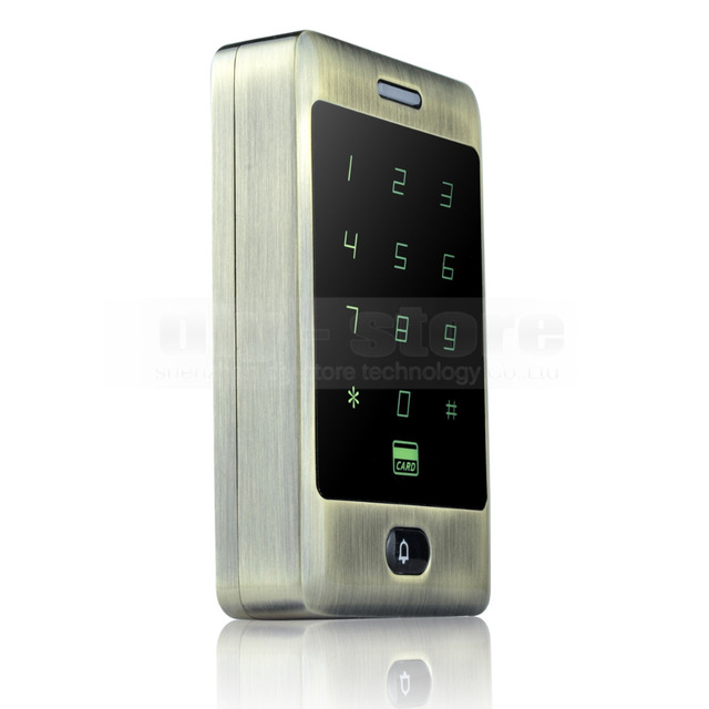DIYSECUR 125KHz RFID Card Reader Touch Panel Backlight Access Controller Password Keypad C30
