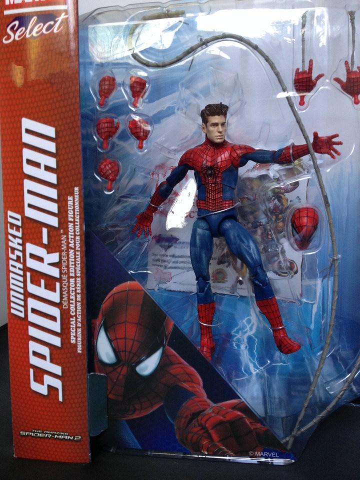 "7"" 18CM Marvel Select The <font><b>Amazing</b></font> <font><b>Spider</b></font>-<font><b>Man</b></font> PVC Action Figure Collection Model Toy"
