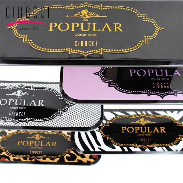 Nueva marca profesional de 10 colores paleta de sombra de moda naturales cosméticos Contorno de Ojos Paleta de Sombra de ojos Con El Cepillo