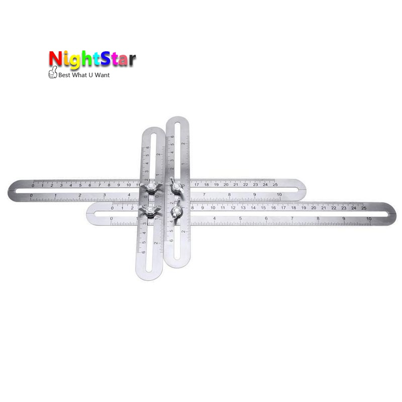 Stainless steel Four Sided Ruler font b Measuring b font font b Instrument b font Template