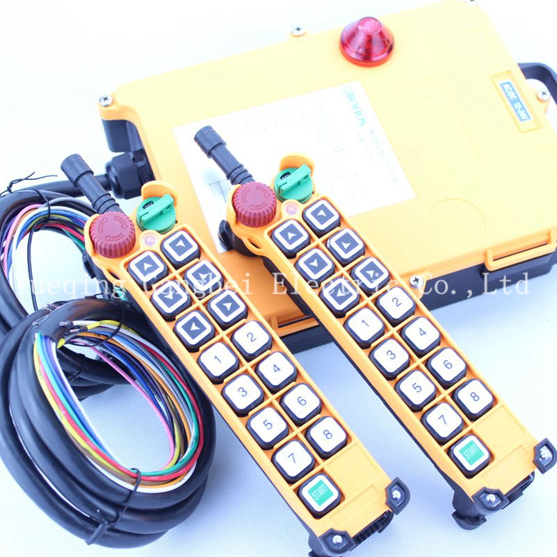 HS-14S (include 2 transmitter and 1 receiver)  crane remote control  Your order note need voltage:380VAC 220VAC 36VAC  24VDC 12v 24v hs 10 industrial remote control crane transmitter 1pcs transmitter and 1pcs receiver