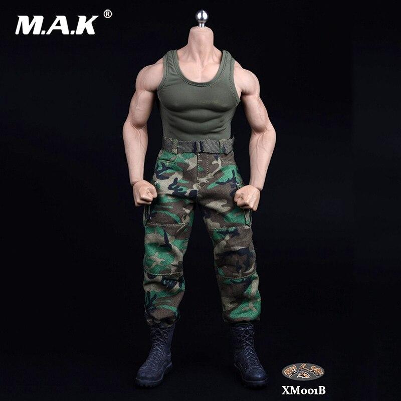 1//6 Scale Camouflage Vest Black Jeans Set Accessories Fit 12/'/' Action Figure