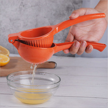 Quality Metal Aluminium Alloy Hand Fruit lime Orange Lemon Citrus press presser Squeezer Juicer with Long Handle Spoon