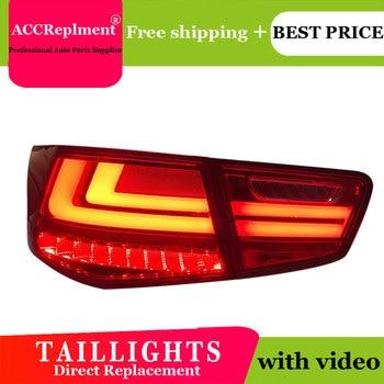 4PCS Car Styling for Kia Forte Taillights 2010-2013 for Forte LED Tail Lamp+Turn Signal+Brake+Reverse LED light