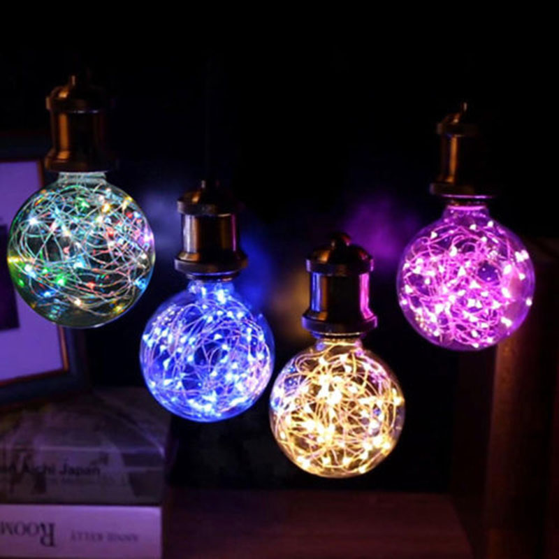 Holiday Light Led Edison Light Bulb E27 G80 Starry Fairy
