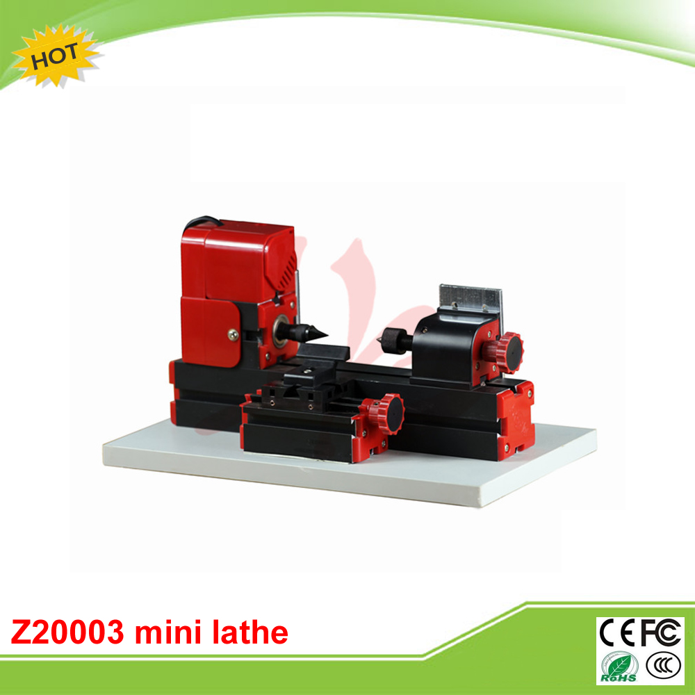 Mini lathe machine Z20003 Mini Wood-turning Lathe A for teaching and DIY adjustable double bearing live revolving centre diy for mini lathe machine