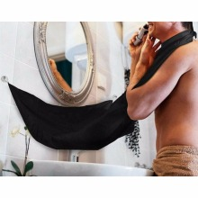 Man Bathroom Beard Care Trimmer Hair Shave Apron Gown Robe Sink Styles Tool Black/White color