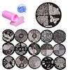 Nail Art Stamping Kit 30 Manicure Plate Set With Polish Stamper And Scraper Nail Plates By