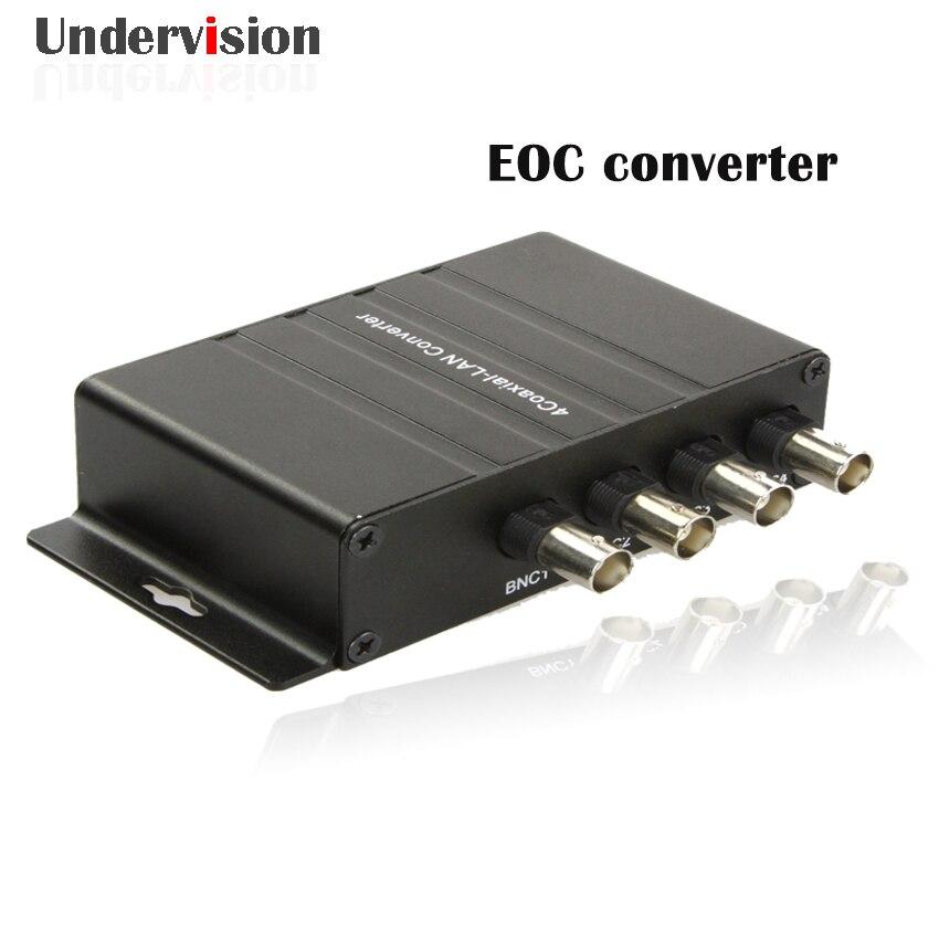 Coaxial Cable EOC Converter 4BNC 1 Ethernet 300M 600M Coaxial LAN EOC Converter