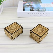 NEW Musical Action Figure Toys Antique Carved Wooden Hand Crank Music Box Creative Birthday Gift Toys Caja De Musica(China)